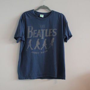 The Beatles Abbey Road Distressed Graphic Band Tee